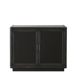 Beaumont Lane Home Bar Cabinet in Black