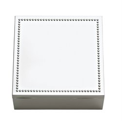 Reed & Barton Lyndon Square Jewelry Box in Silver