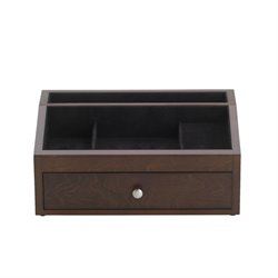 Reed & Barton Jackson Valet Jewelry Box in Mahogany Satin