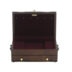 Reed & Barton Princess Jewelry Box in Mahogany Satin