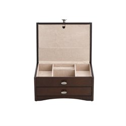 Reed & Barton Avery Jewelry Box in Mahogany Satin