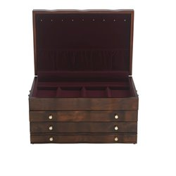 Reed & Barton Athena Jewelry Box in Mahogany Satin