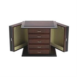 Reed & Barton Diva Jewelry Box in Dark Mahogany Satin