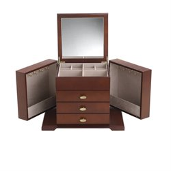 Reed & Barton Amelia Jewelry Box in Dark Cherry