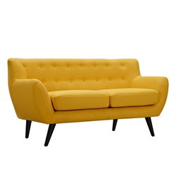 223310 Ida Loveseat in Papaya Yellow
