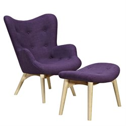 445566 Aiden Chair in Plum Purple
