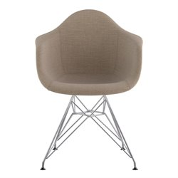 332001 Mid Century Eifel Arm Chair in Light Sand