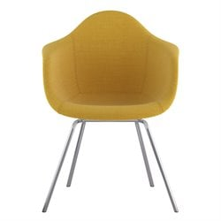 332003 Mid Century Classroom Arm Chair in Papaya Yellow