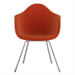 332004 Mid Century Classroom Arm Chair in Lava Red