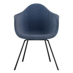 332006 Mid Century Classroom Arm Chair in Dodger Blue