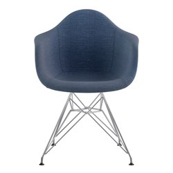 332006 Mid Century Eifel Arm Chair in Dodger Blue