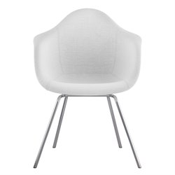 332007 Mid Century Classroom Arm Chair in Glacier White