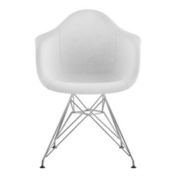 332007 Mid Century Eifel Arm Chair in Glacier White