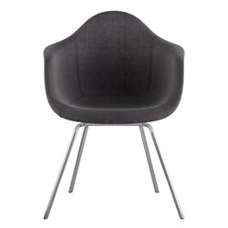 332008 Mid Century Classroom Arm Chair in Charcoal Gray