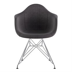 332008 Mid Century Eifel Arm Chair in Charcoal Gray