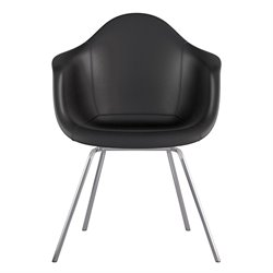 332009 Mid Century Classroom Arm Chair in Milanno Black