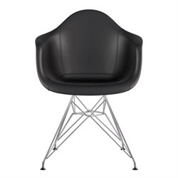 332009 Mid Century Eifel Arm Chair in Milanno Black
