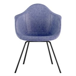 332015 Mid Century Classroom Arm Chair in Weathered Blue