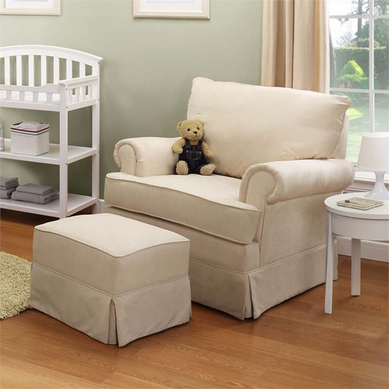Thomasville Kids Grand Royale Swivel Glider And Ottoman In