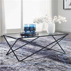 Tommy Hilfiger Azura Glass Top Coffee Table in Dark Smoke