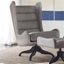 Tommy Hilfiger Helios Swivel Wingback Chair in Gray
