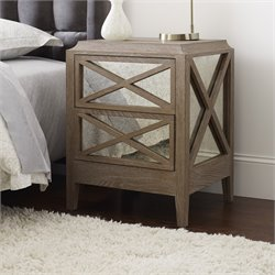 Tommy Hilfiger Ludo 2 Drawer Nightstand in Light Burnt Oak