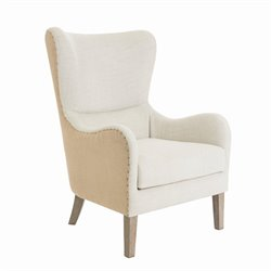 Tommy Hilfiger Warner Wingback Chair in Two-Toned Beige
