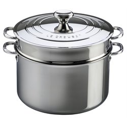 Le Creuset 9 qt. Stockpot with Lid and Deep Colander Insert