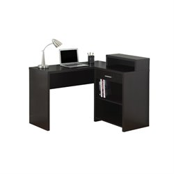 Scranton and Co Corner Computer Desk in Cappuccino