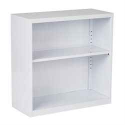 MER-1133 2 Shelf Metal Bookcase