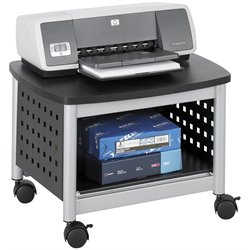 Scranton & Co Under-Desk Printer Stand in Black