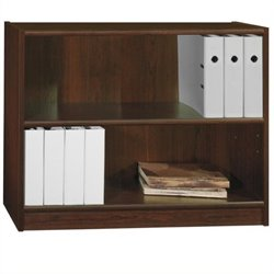 Scranton & Co 2 Shelf Wood Bookcase in Vogue Cherry