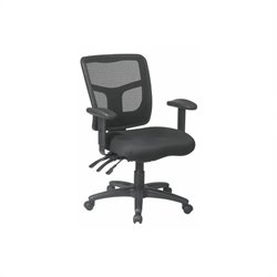 Scranton & Co Mesh Back Mid-Back Managers Office Chair in Coal