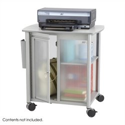 Scranton & Co Personal Mobile Storage Center in Metallic Gray