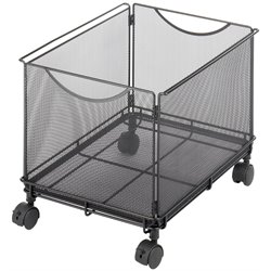 Scranton & Co Mesh Rolling File Cube in Black