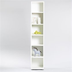 Scranton & Co 6 Shelf Narrow Bookcase in White
