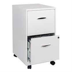 Scranton & Co 2 Drawer Steel File Cabinet in White