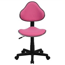 Scranton & Co Modern Ergonomic Task Office Chair in Pink