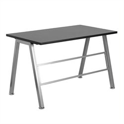 Scranton & Co Glass Top Computer Desk in Black