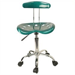 Scranton & Co Computer Task Office Chair Seat in Green and Chrome