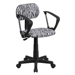 MER-1133 Zebra Print Computer Office Chair