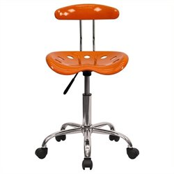 Scranton & Co Office Chair in Orange and Chrome
