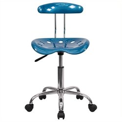 Scranton & Co Office Chair in Blue and Chrome