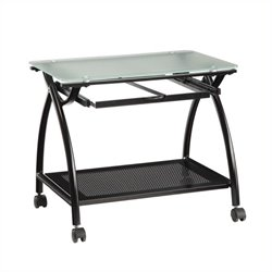 Scranton & Co Computer Cart in Black