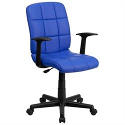 MER-1133 Mid-Back Quilted Task Office Chair in Blue