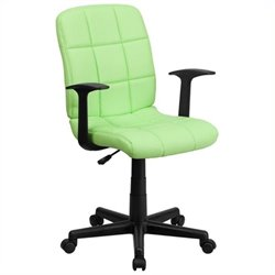 MER-1133 Mid-Back Quilted Task Office Chair in Green