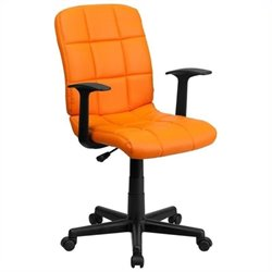MER-1133 Mid-Back Quilted Task Office Chair in Orange