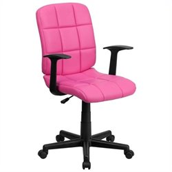 MER-1133 Mid-Back Quilted Task Office Chair in Pink
