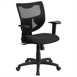 Scranton & Co Mid-Back Office Chair in Black