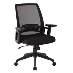 Scranton & Co Office Chair with Arms in Black